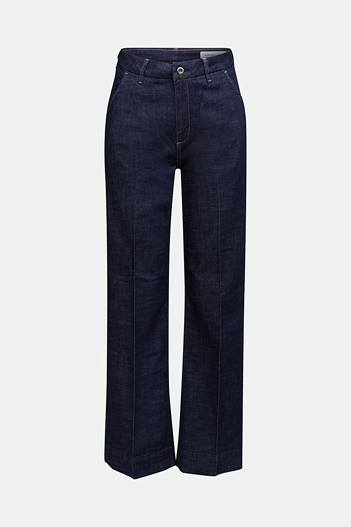 Wide-leg jeans containing organic cotton
