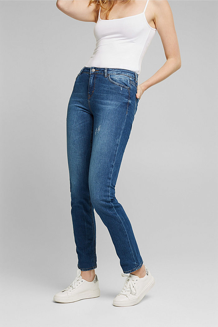 Stretch-Jeans mit Organic Cotton, BLUE DARK WASHED, detail image number 0