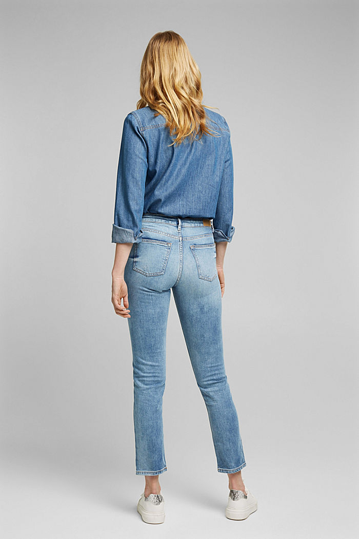 Stretch-Jeans mit Organic Cotton, BLUE LIGHT WASHED, detail image number 3