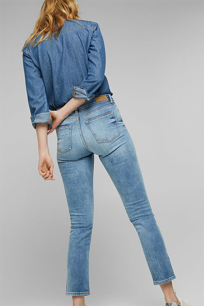 Stretch jeans containing organic cotton, BLUE LIGHT WASHED, detail image number 5
