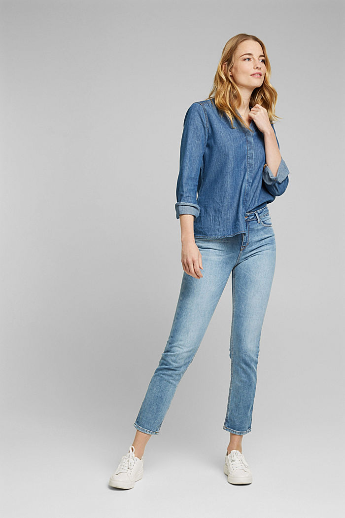 Stretch-Jeans mit Organic Cotton, BLUE LIGHT WASHED, detail image number 1