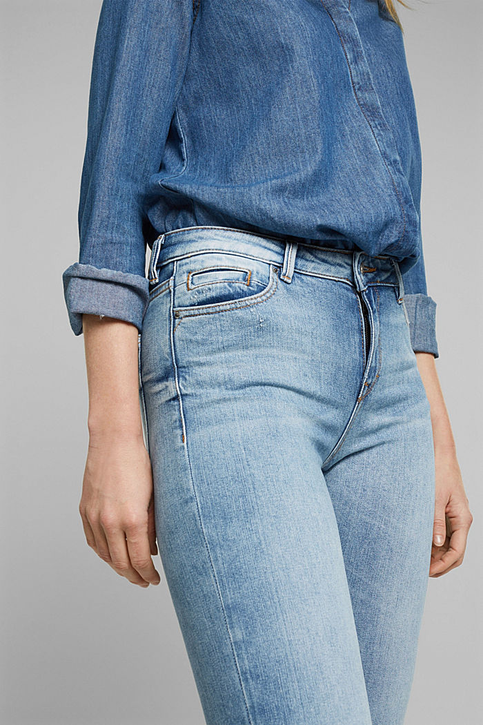Stretch-Jeans mit Organic Cotton, BLUE LIGHT WASHED, detail image number 2