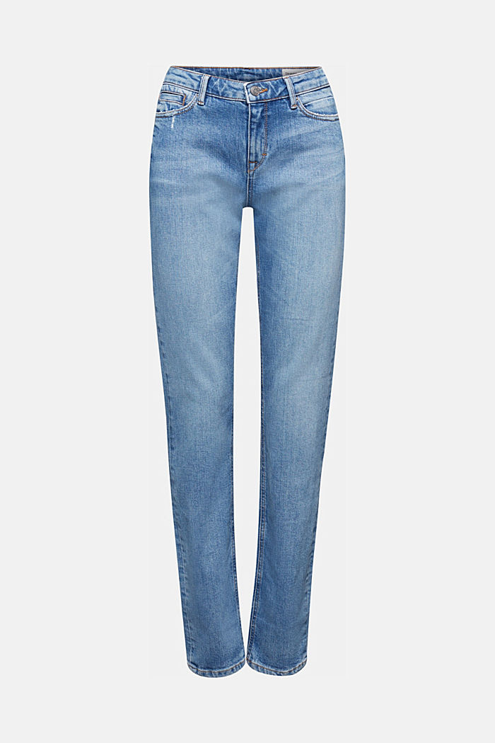 Stretch-Jeans mit Organic Cotton, BLUE LIGHT WASHED, detail image number 6