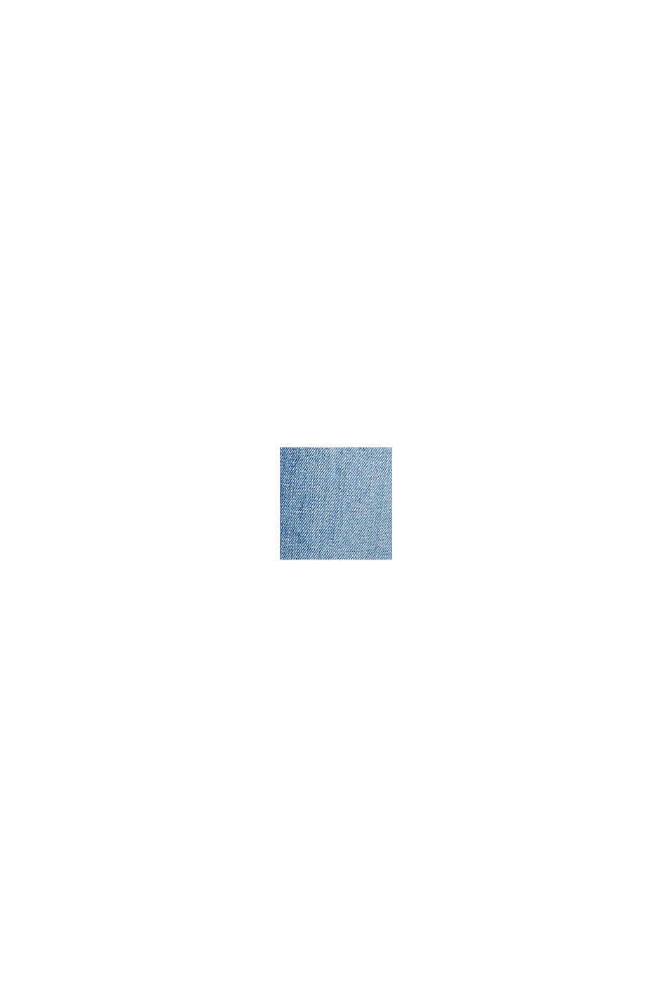 Stretchjeans med ekologisk bomull, BLUE LIGHT WASHED, swatch