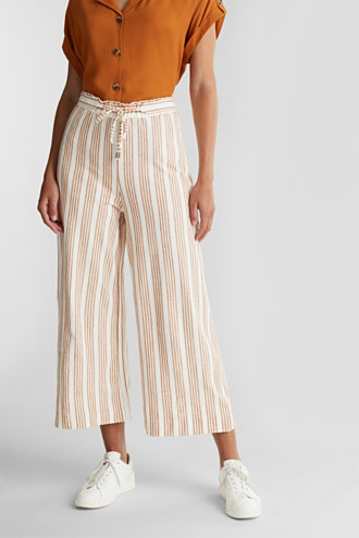 Culottes made of organic cotton with linen