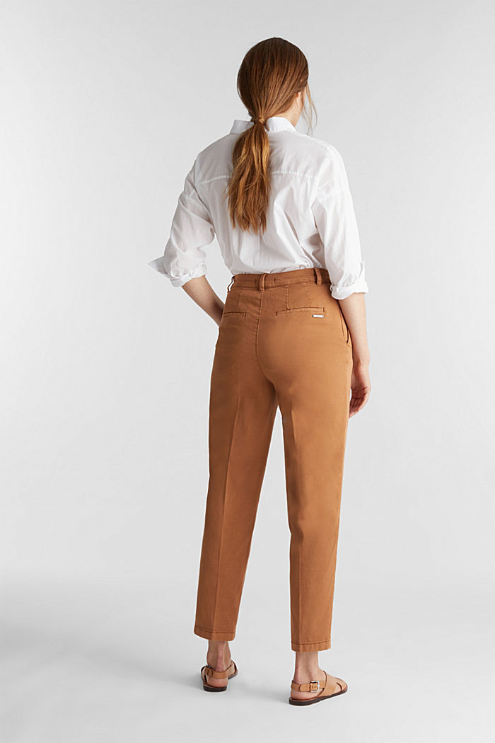 Chinos with organic cotton, RUST BROWN, detail image number 3