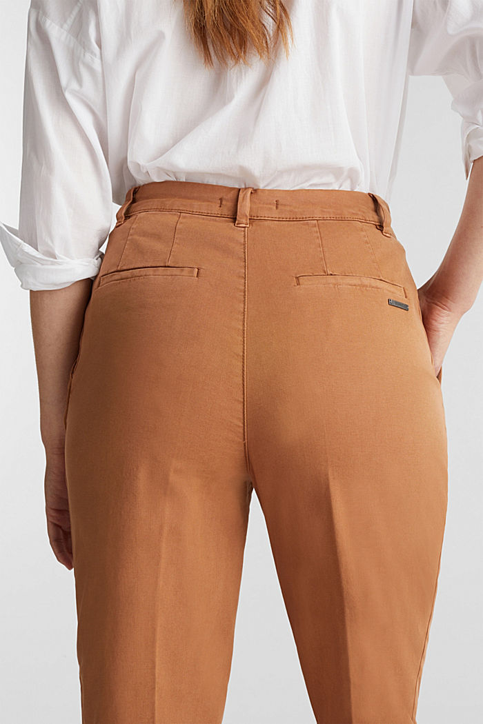 Chinos with organic cotton, RUST BROWN, detail image number 2