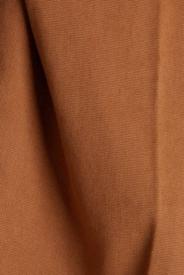 Chinos with organic cotton, RUST BROWN, detail