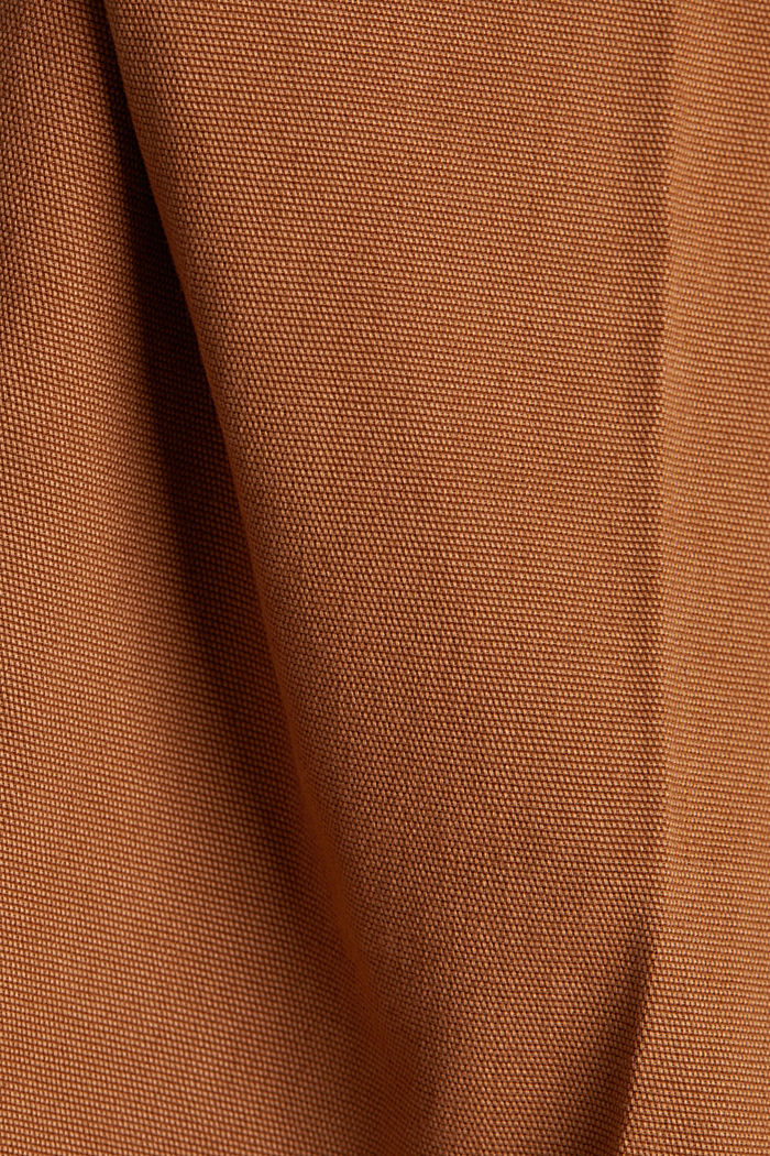 Chinos with organic cotton, RUST BROWN, detail image number 4