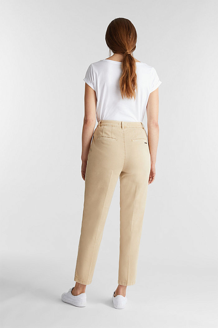 Chinos with organic cotton, BEIGE, detail image number 3