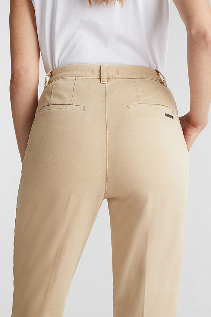 Chinos with organic cotton, BEIGE, detail image number 2