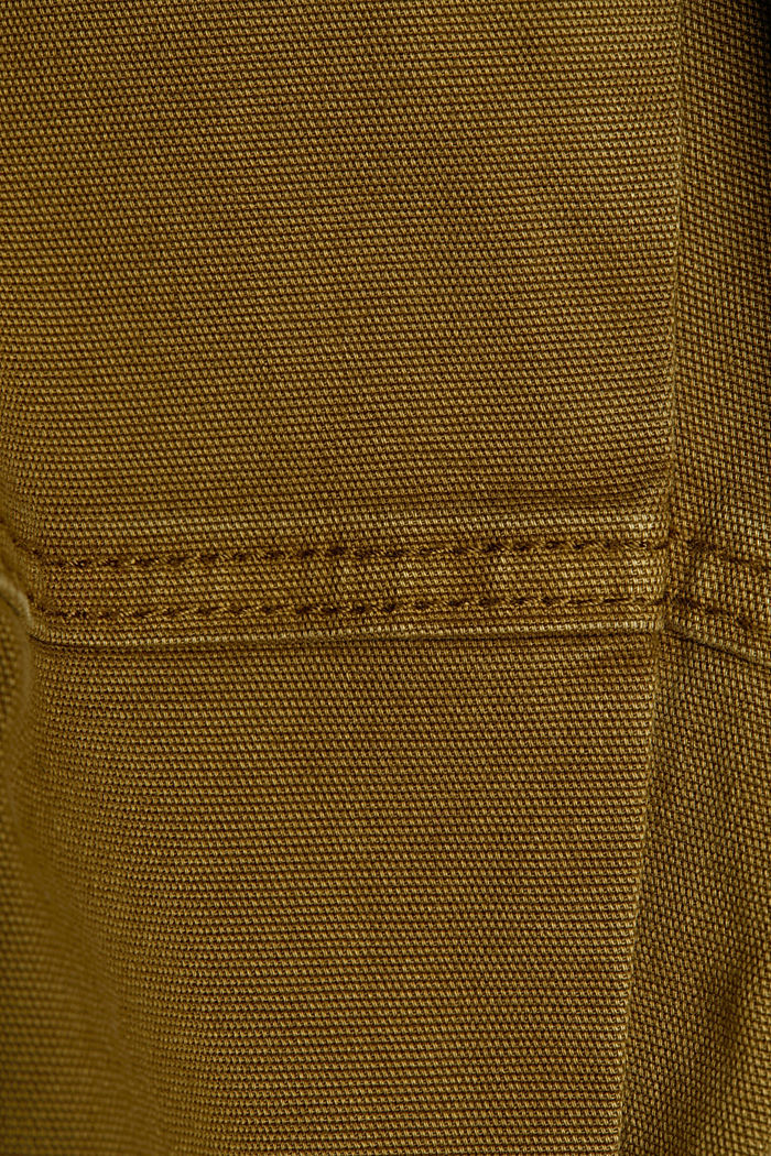 Cargo tracksuit bottoms with organic cotton, OLIVE, detail image number 4