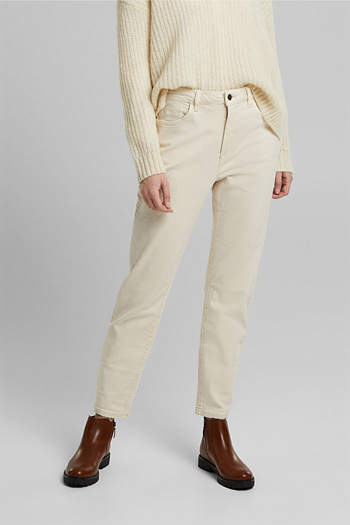 Trousers with organic cotton, OFF WHITE, detail image number 0