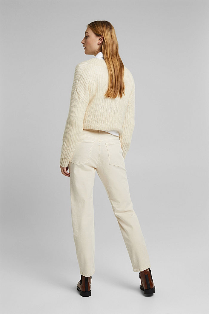 Trousers with organic cotton, OFF WHITE, detail image number 3