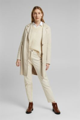 Trousers with organic cotton, OFF WHITE, detail