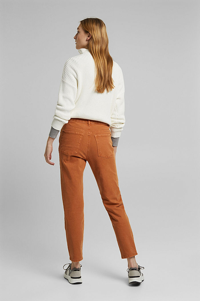 Trousers with organic cotton, RUST BROWN, detail image number 3