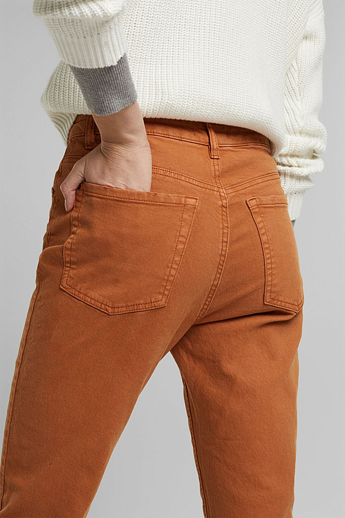 Trousers with organic cotton, RUST BROWN, detail image number 2