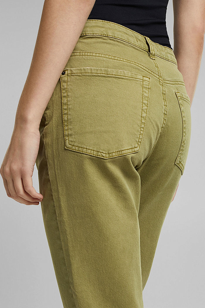 Trousers with organic cotton, OLIVE, detail image number 1