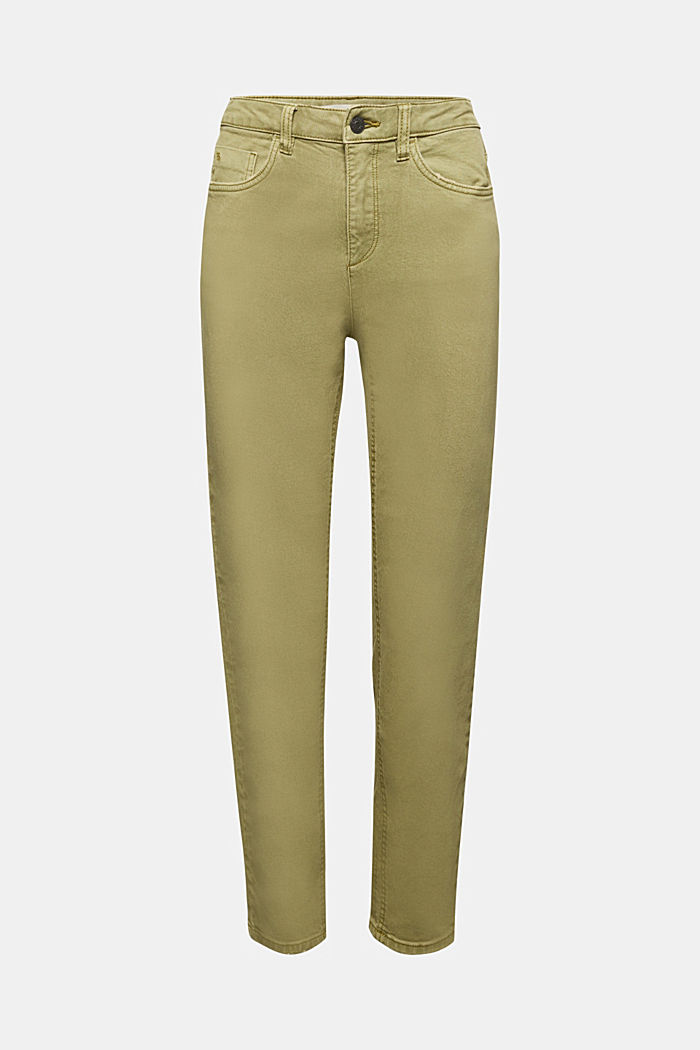 Trousers with organic cotton, OLIVE, detail image number 3