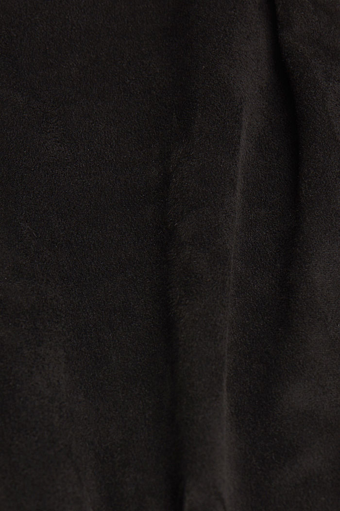 Trousers in faux suede, BLACK, detail image number 4