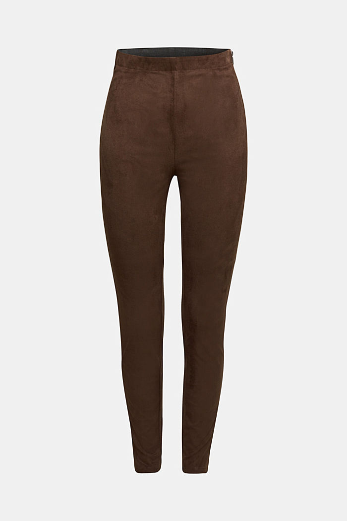 Trousers in faux suede