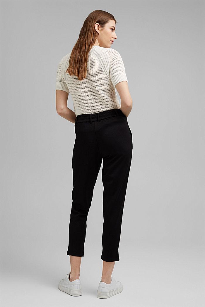 Jogg-Pants aus Sweat in 7/8-Länge, BLACK, detail image number 3
