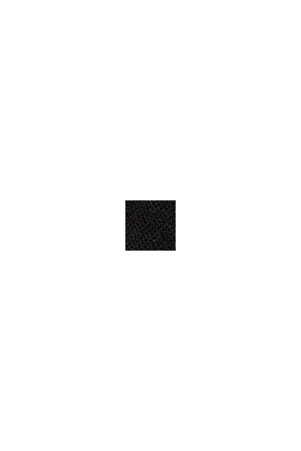 Jogg-Pants aus Sweat in 7/8-Länge, BLACK, swatch