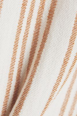 Midi skirt made of organic cotton with linen, RUST BROWN, detail