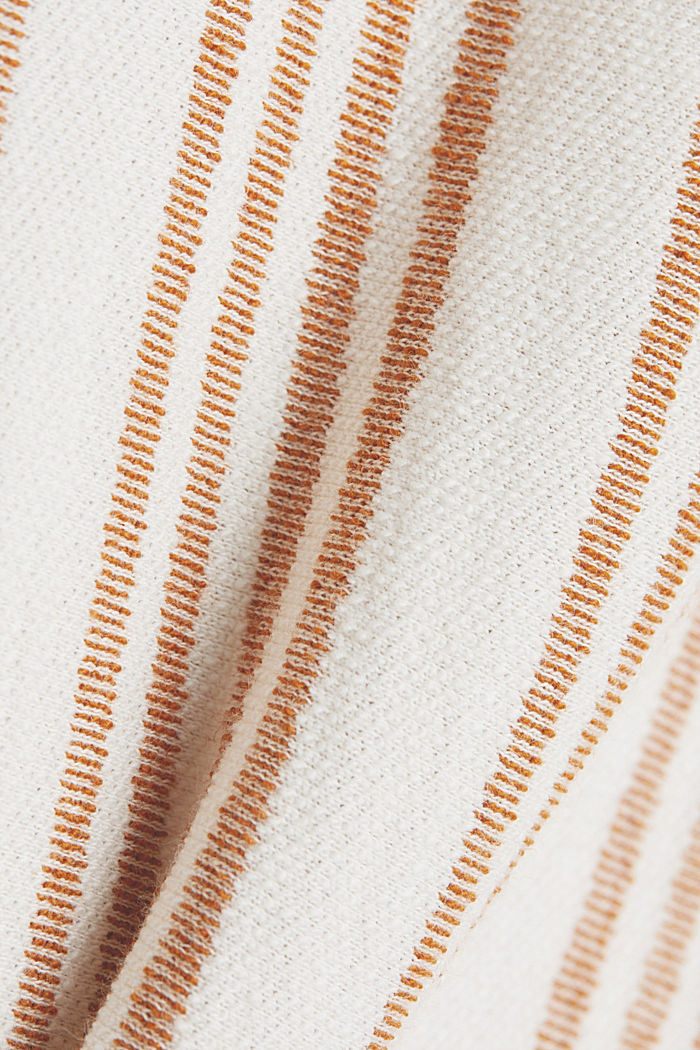 Midi skirt made of organic cotton with linen, RUST BROWN, detail image number 4
