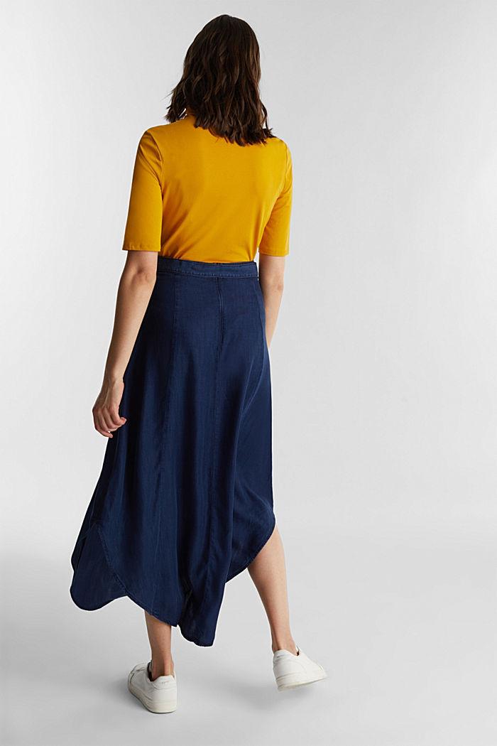 Denim skirt with a belt, 100% lyocell, BLUE DARK WASHED, detail image number 2