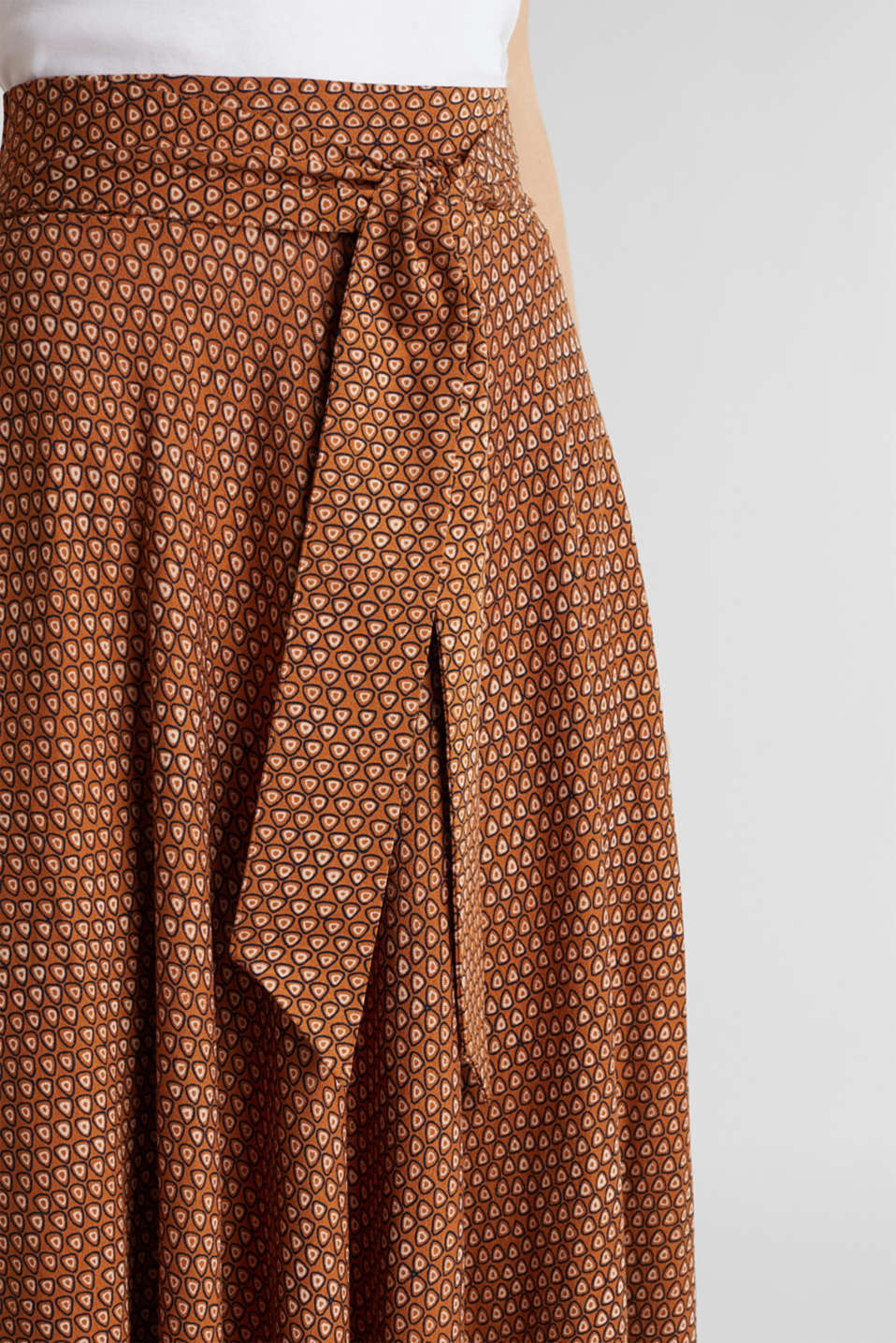 Skirts knitted, RUST BROWN, detail image number 2