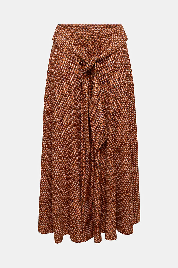 Midi jersey skirt with an all-over print, RUST BROWN, detail image number 6