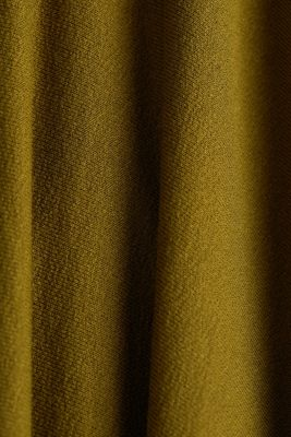 Jersey midi skirt made of stretch viscose, OLIVE, detail
