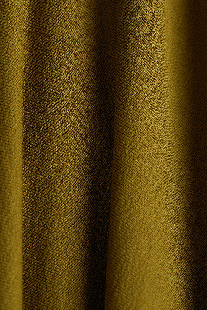 Jersey midi skirt made of stretch viscose, OLIVE, detail image number 4