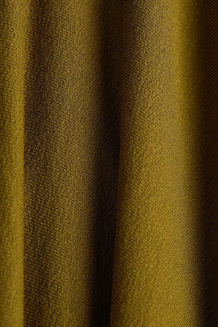 Jupe longueur midi en viscose stretch, OLIVE, detail image number 4