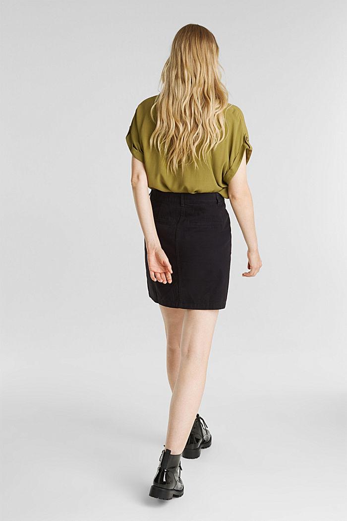 Mini skirt in 100% cotton, BLACK, detail image number 3