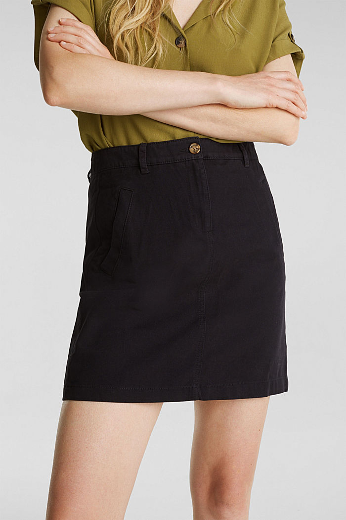 Mini skirt in 100% cotton, BLACK, detail image number 2