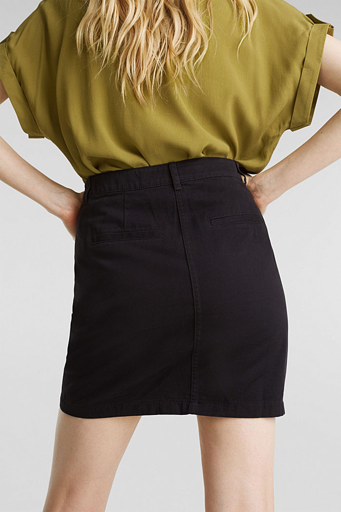 Mini skirt in 100% cotton, BLACK, detail image number 5