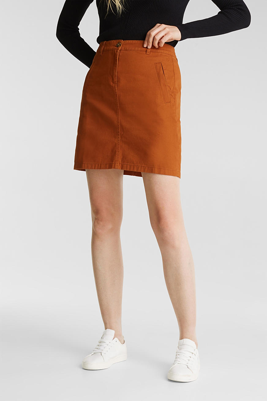 Mini skirt in 100% cotton