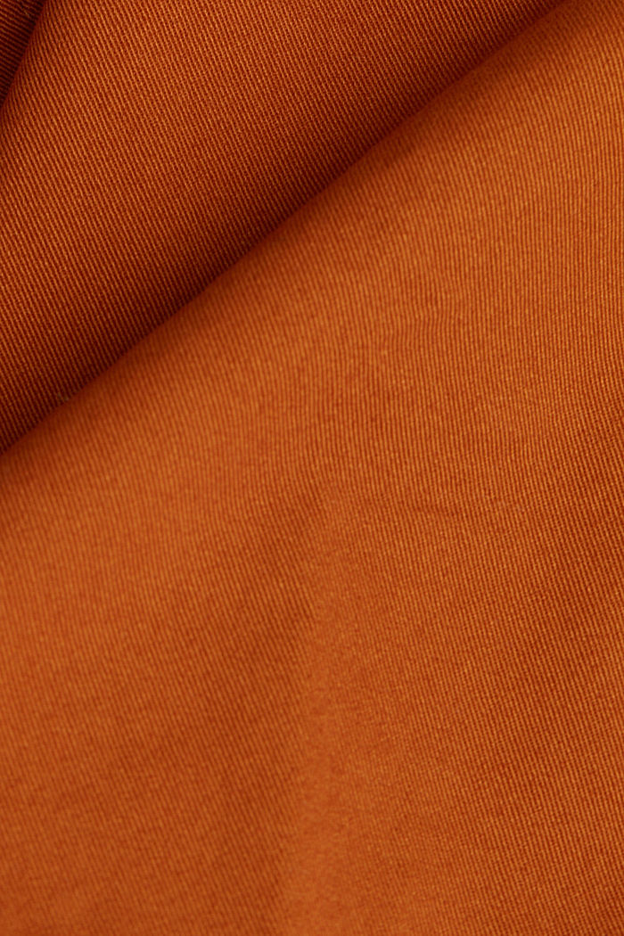 Mini skirt in 100% cotton, RUST BROWN, detail image number 4