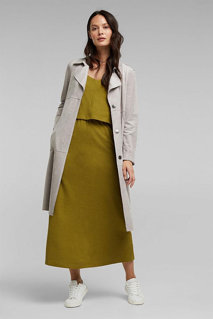 Linen blend: dress made of organic cotton, OLIVE, detail image number 1
