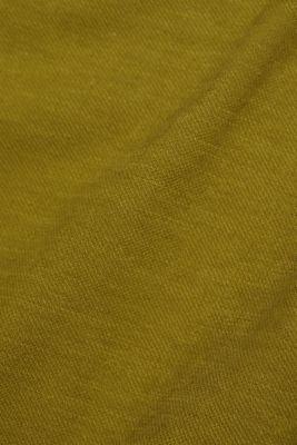Linen blend: dress made of organic cotton, OLIVE, detail