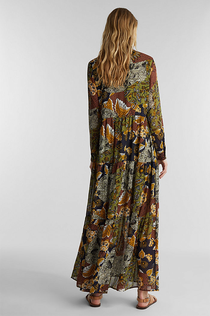 Recycled: Maxi dress with a print, OLIVE, detail image number 2