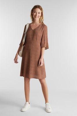 LENZING™ ECOVERO™ printed dress, RUST BROWN 4, detail