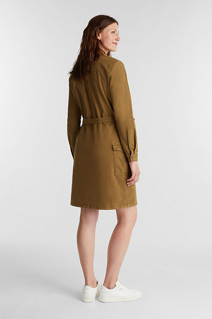 EarthColors® dress in a utility style, OLIVE, detail image number 3