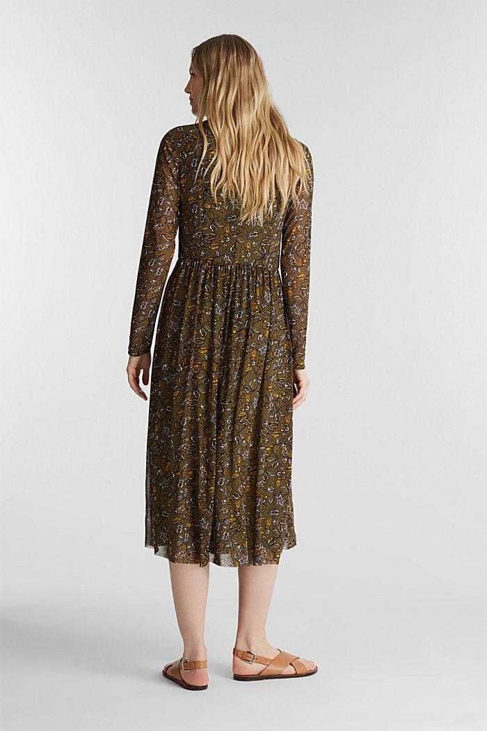 Mesh midi dress, OLIVE, detail image number 1