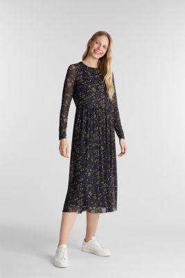 Mesh midi dress, NAVY 4, detail