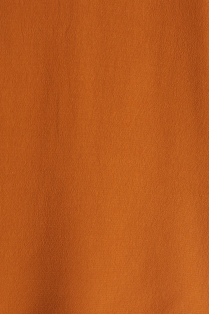 Crêpe blouse containing LENZING™ ECOVERO™, RUST BROWN, detail image number 4