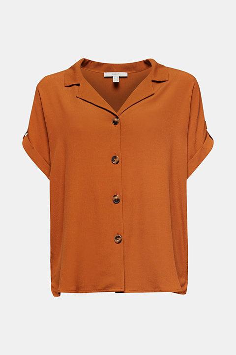 Crêpe blouse containing LENZING™ ECOVERO™