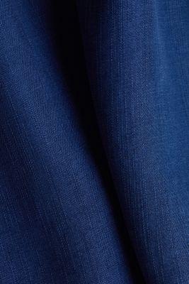Blended lyocell: TENCEL™ blouse top, BLUE DARK WASH, detail